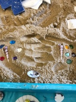 Make your print in the sand